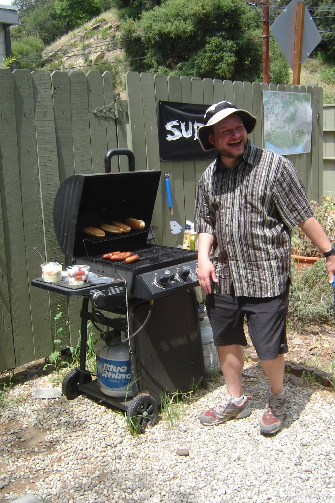 Chuck brings lunch and BBQ's