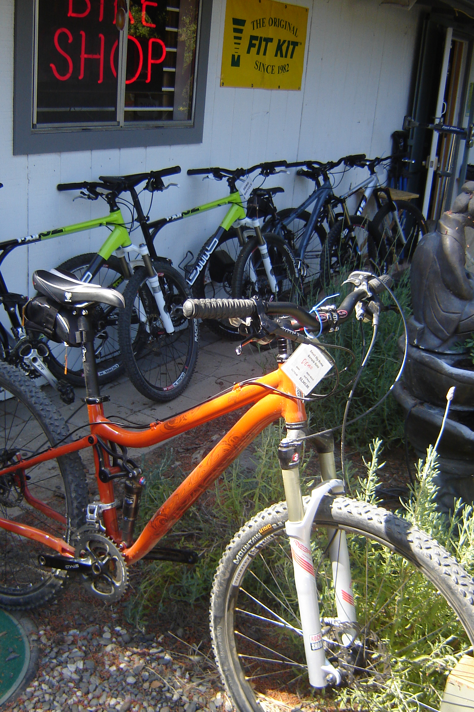 We have dozens of the best mountain bikes made ready to ride.