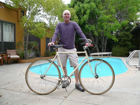 Brian, his bike, and his pool.