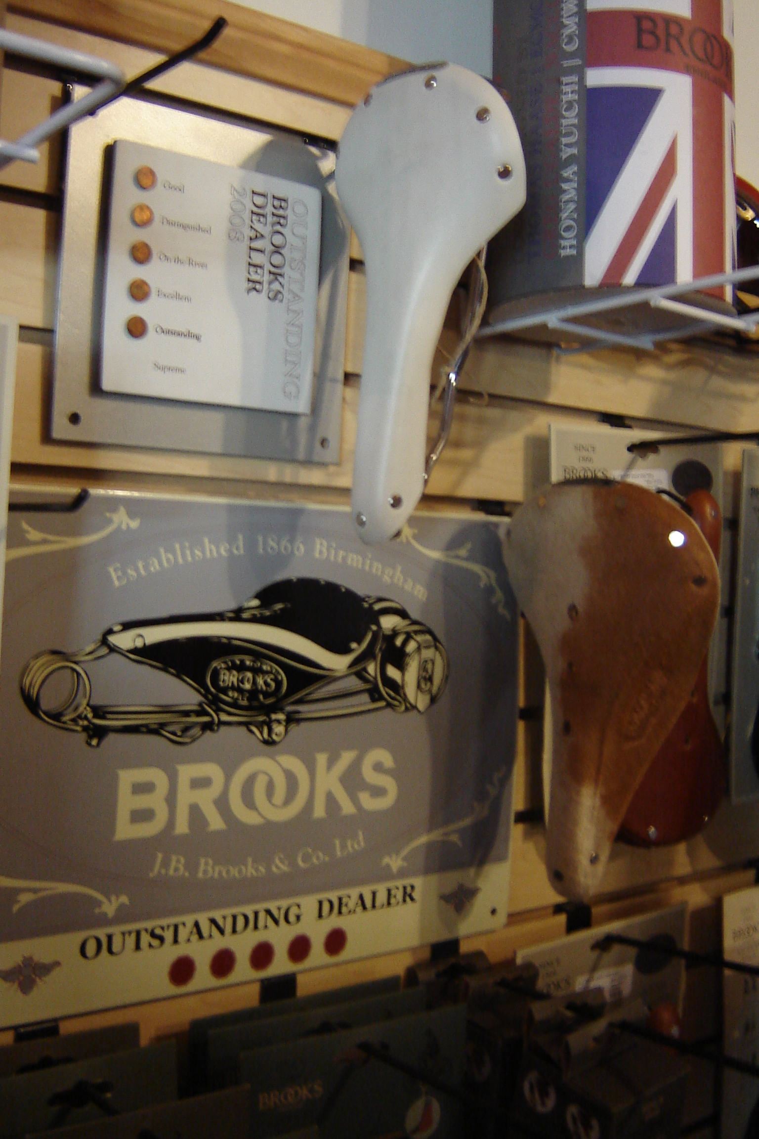 We recieved the Outstanding Shop Brooks Award on Thursday.