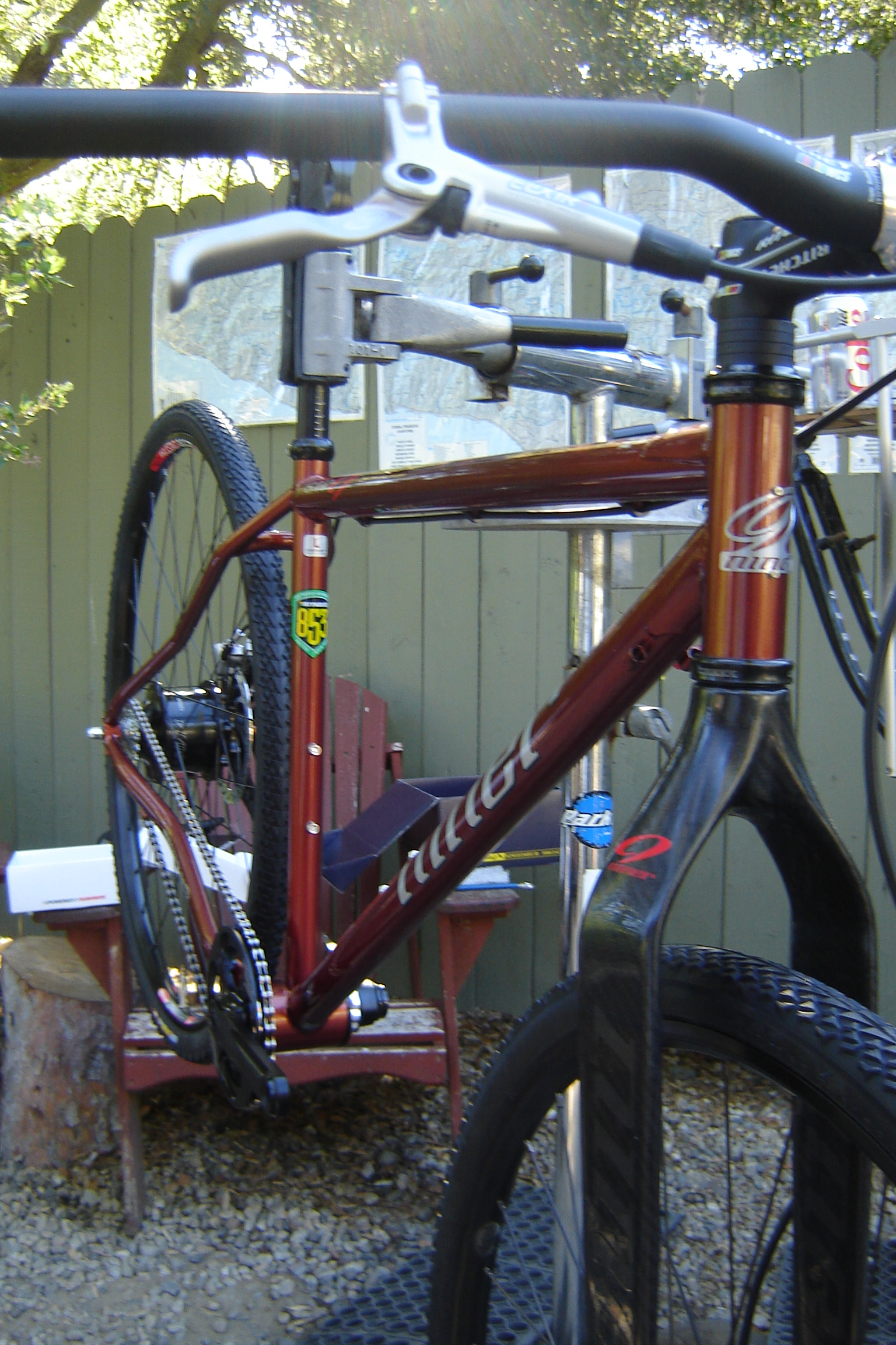 Juan\'s Niner S.I.R. 9 with Rohloff being built….   We moved... http ...