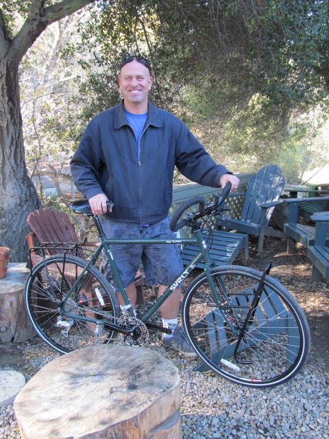 We customized a Long Haul Trucker for Chris with Dimension Trekking bars.  It came out great.