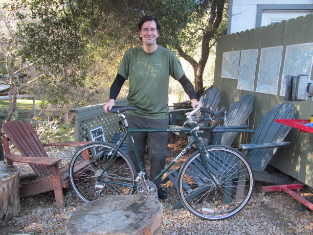 Brian picked up a Surly Long Haul Trucker today.   He walked in hoping perhaps we had some (we do, in most sizes).   He hoped we had a 58 in 700C  (we did).   And, he wanted green.    We had green.  Nice for everyone.