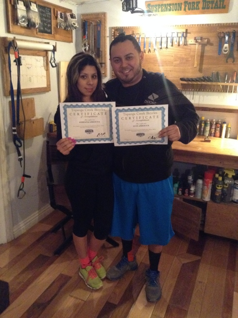 Luis and Adriana motivated from Long Beach to end the year on a fun adventure.  First time really mountain biking, they tore up the TCB loop. Tired and feeling great they were super glad to have accomplished such a fun 10 mile journey.