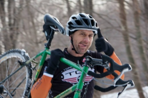 Gunnar races cyclocross in the cold East Coast