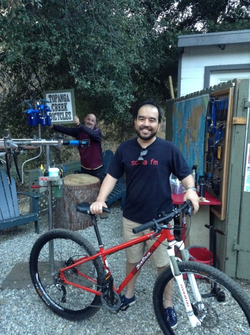 Gerald did some research for a bike to get him on the trails in the Santa Monica Mountains. His research led him to us and the Salsa Mariachi. Nice way to start 2014.